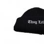 Gorro Canelado Thug Life Urban Streetwear Hip Hop Rap Trap Skate - Preto