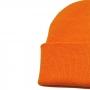 Gorro Half 2 Cores Beanie Moda Urban Streetwear Hip Hop Rap Skate - Preto e Laranja Fluorescente