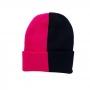Gorro Half 2 Cores Beanie Moda Urban Streetwear Hip Hop Rap Skate - Preto e Pink