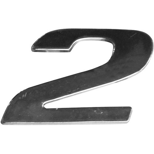 EMBLEMA LATERAL ( NUMERO 2 ) CROMADO