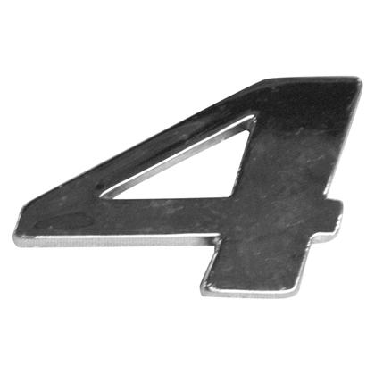 EMBLEMA LATERAL ( NUMERO 4 )  CROMADO