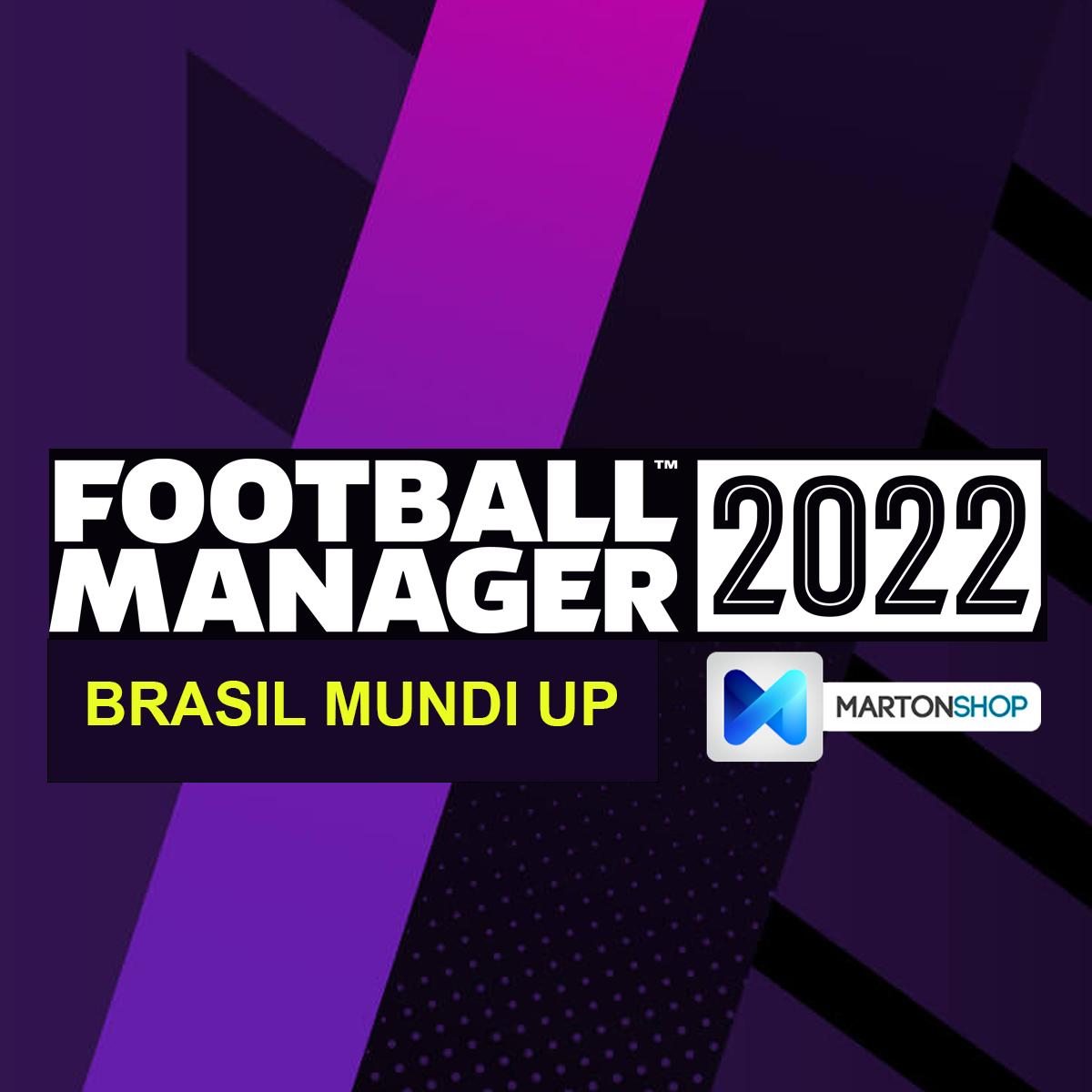 PRÉ-VENDA: Football Manager 2022 Original Steam + Brasil Mundi Up
