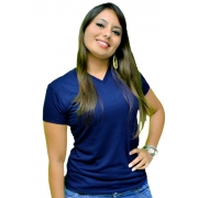 Baby Look Malha PV - Azul Marinho