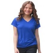 Baby Look Malha PV - Azul Royal
