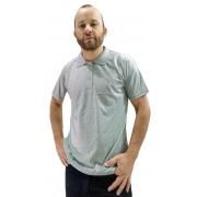 Camisa Polo em Malha Fria - Mescla