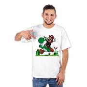 Camiseta Super Mario e Yoshi