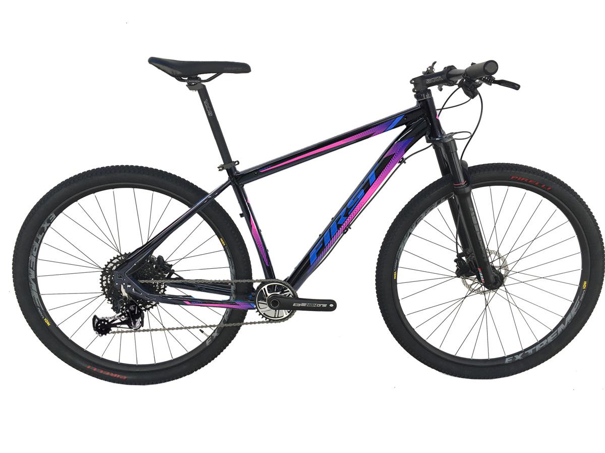 Bicicleta Aro 29 First Smitt 17,5 Sram Nx Eagle 12 Velocidades Supensão a Ar Freio Hidráulico