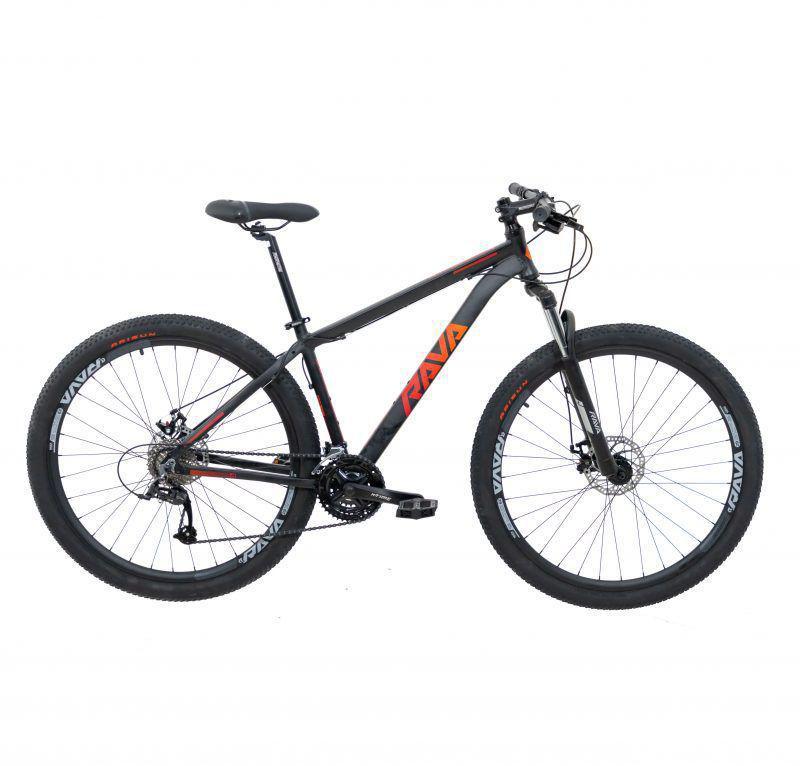 BICICLETA ARO 29 RAVA PRESSURE 21 VELOCIDADES CÂMBIO SHIMANO PRETO/VERMELHO (2021)