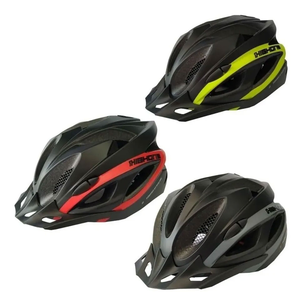 Capacete Ciclismo Bike High One Win Led Pisca Viseira Cores
