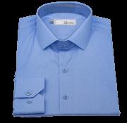 Camisa Social Manga Longa Masculina Azul