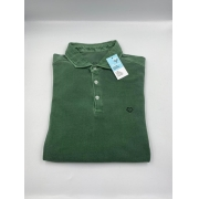 Camisa Polo Manga Longa Verde Militar