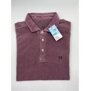 Camisa Polo Manga Longa Vinho
