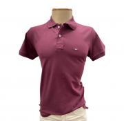 Camiseta Polo Masculina Vinho