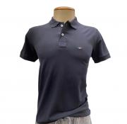 Camiseta Polo Masculina Cinza Escura