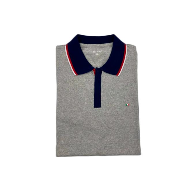 Camisa Polo Boschini Cinza Claro