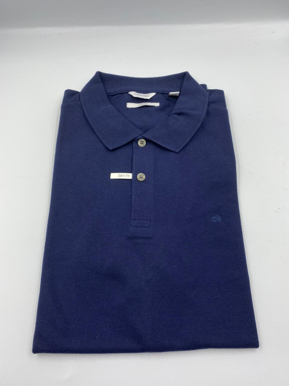 Camisa Polo Calvin Klein Azul Marinho