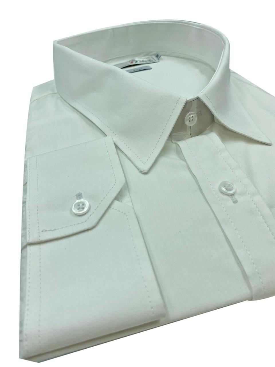 Camisa Social Manga Longa Masculina Plus Size Branca