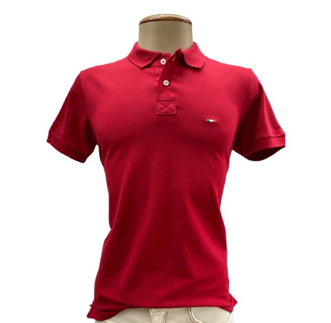Camiseta Polo Masculina Vermelha