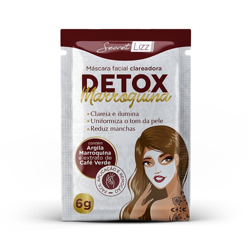 Máscara Clareadora Detox Marroquina Secret Lizz 6g