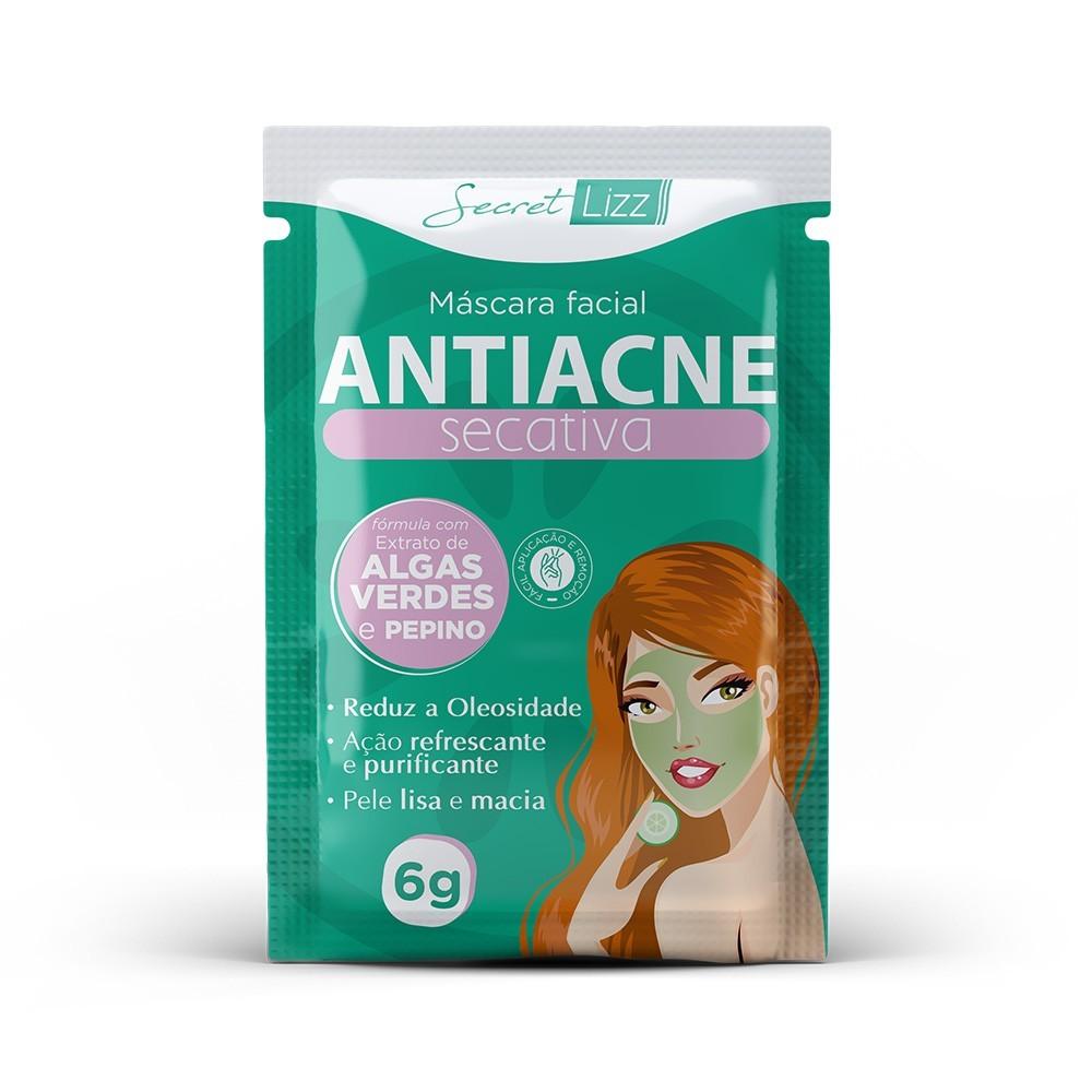 Máscara Facial Antiacne Secativa Secret Lizz 6g