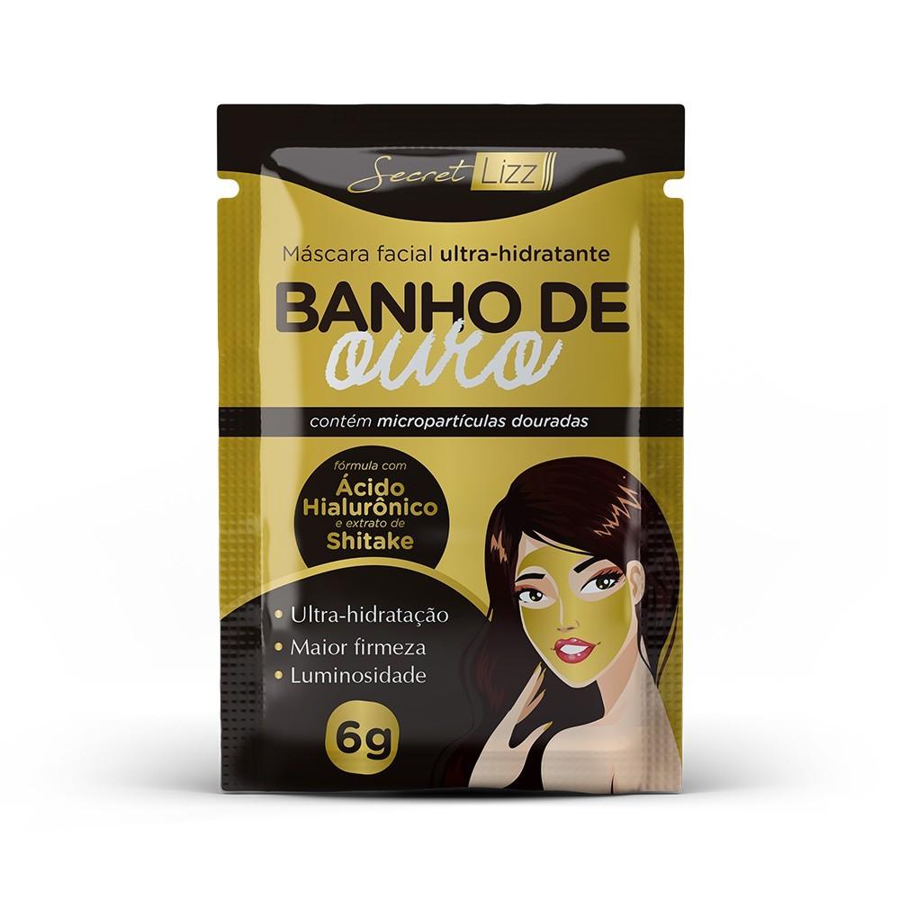 Máscara Facial Ultra-hidratante Banho de Ouro Secret Lizz 6g