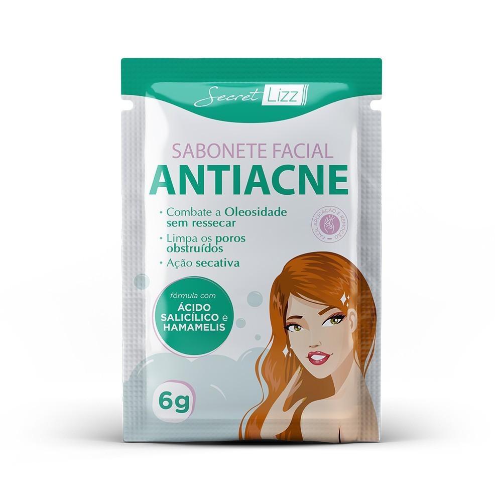 Sabonete Facial Antiacne Secret Lizz 6g