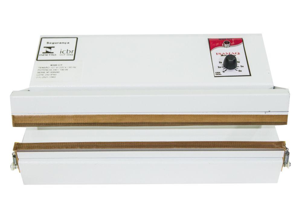 Seladora de Embalagens Plásticas Manual com Temporizador 30 cm