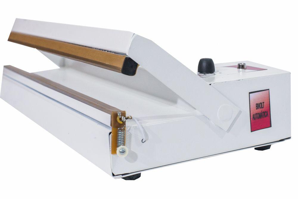 Seladora de Embalagens Plásticas manual com Temporizador 30 cm Sela e corta