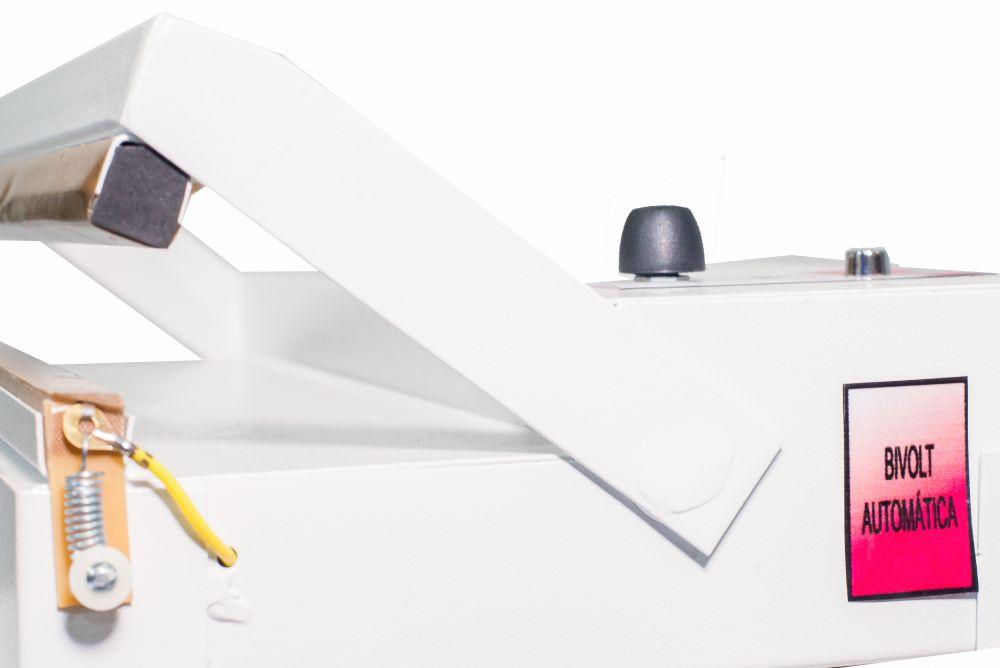 Seladora de Embalagens Plásticas Pedal com Temporizador 50cm Sela e Corta