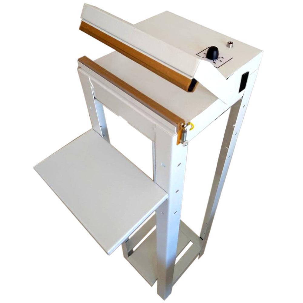 Seladora Pedal 20cm Com Temporizador Sela e Corta Para Sacos Plásticos