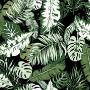 Folhagens Verdes e Preto