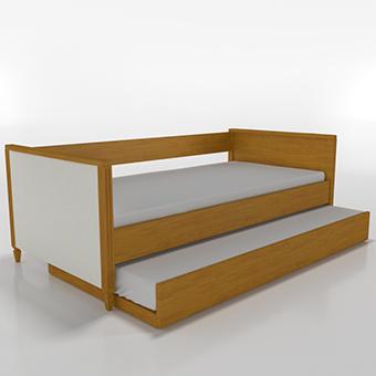 Cama sofá com estofado e com auxiliar Tudor