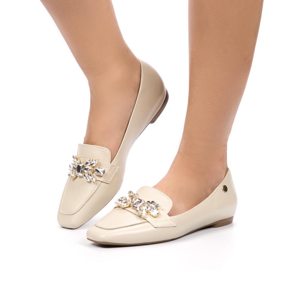 Loafer Alice couro off white