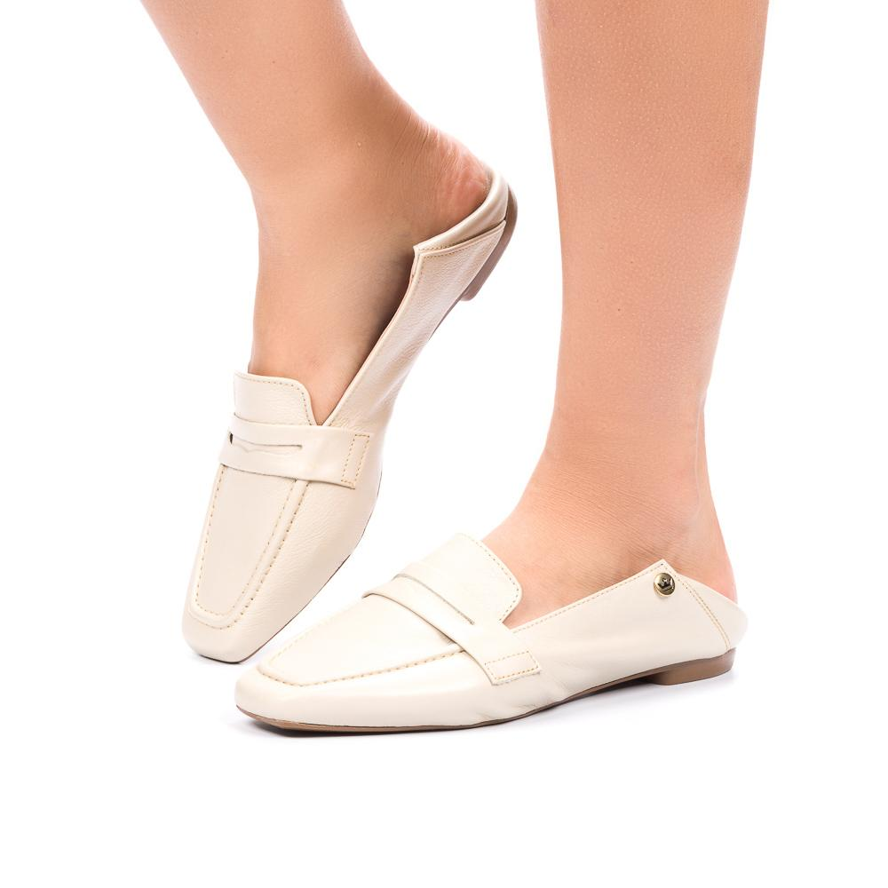 Loafer Ana Beatriz couro off white