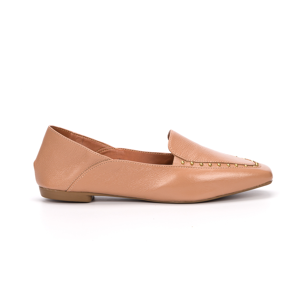 Loafer stephanie couro nude