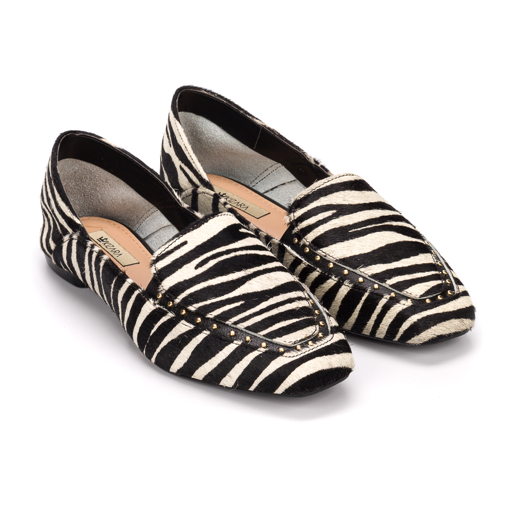 Loafer stephanie couro zebra