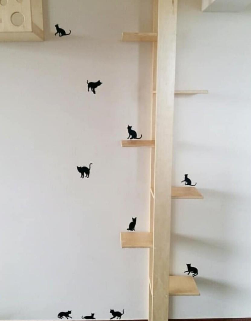 Adesivo de Parede Black Cat