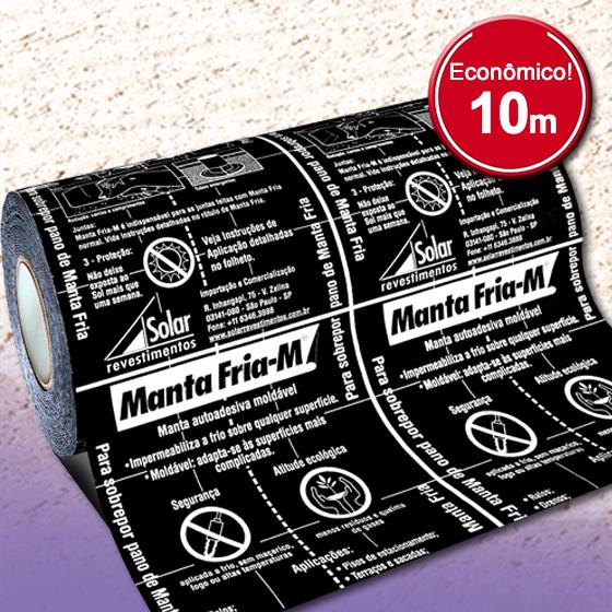 Manta Fria-M - Rolos 10m - Moldável para Ralos e Tubos