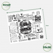 Folha de Papel Acoplado Branco para hambúrguer N°02 - 33×38 - 1.000 Folhas