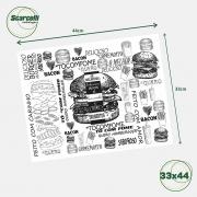 Folha de Papel Acoplado Branco para Hambúrguer N°03 - 33×44 - 1.000 Folhas