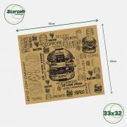 Folha de Papel Acoplado Pardo para hamburguer N°02 - 33×38 - 1.000 Folhas