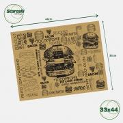 Folha de Papel Acoplado Pardo para Hambúrguer N°03 - 33×44 - 1.000 Folhas