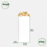 Saco de Papel Kraft Branco Nº03 - 500 unidades