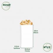 Saco de Papel Kraft Branco Nº 1/2 - 500 unidades