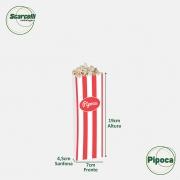 Saco de Papel Kraft Branco para Pipoca Impresso n°01 - 1000 unidades