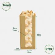 Saco de Papel Kraft Pardo com Visor Nº05 - 500 unidades