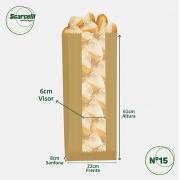 Saco de Papel Kraft Pardo com Visor Nº15 - 500 unidades