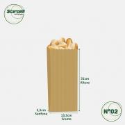 Saco de Papel Kraft Pardo Nº02 - 500 unidades