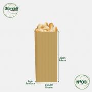 Saco de Papel Kraft Pardo Nº03 - 500 unidades