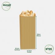Saco de Papel Kraft Pardo Nº05 - 500 unidades